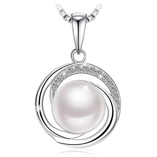 闪购!闪亮珍珠纯银项链$16.99! 圣诞送礼好选择!