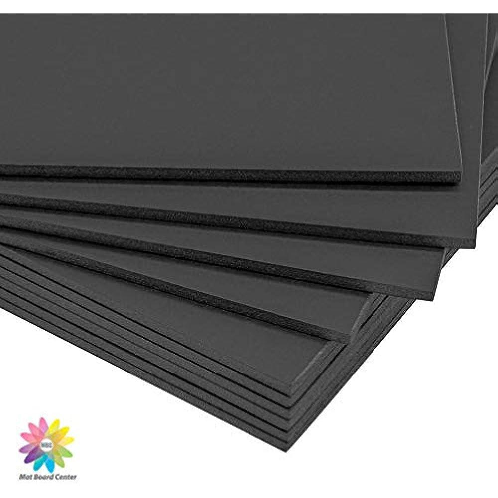 Pack of 10 3//16 Black Foam Core Backing Boards Mat Board Center 16x20, Black