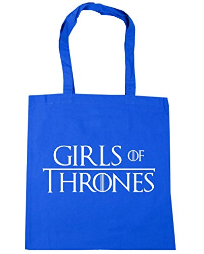 Tote Cornflower Shopping Thrones Bag Girls Blue Beach Of 10 litres HippoWarehouse 42cm x38cm Gym 7nqtT0S