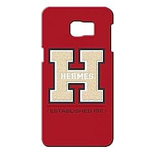 Custom Design Samsung Galaxy S6edge&plus Hermes Paris Logo like Leather Phone case Customized for 3d vintage design hard cover case_red