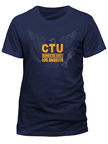 SZYYMM Men's Official 24 CTU Eagle T-Shirt Television Series Counter Terroist Unit Black ()