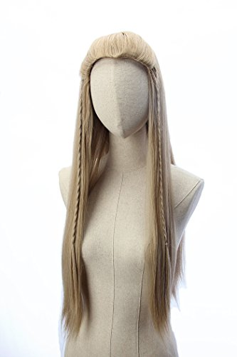 Legolas Long Curly Wigs Braided Blonde Cosplay Party Costume Halloween Hair Wig ()