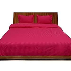 Algodón egipcio de 450hilos 26pulgadas pulgada bolsillo profundo sábana bajera (sábana bajera) Reino Unido solo color rosa rayas 100% algodón 450TC