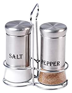 Cuisine Art Salt & Pepper Set with Stainless Steel Coating 3Pcs Set, Q-SP-GL7