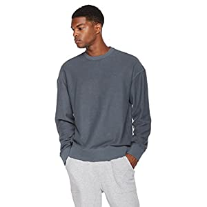 Rebel Canyon Young Men's Reverse French Terry Oversize Fit Pullover Sweatshirt XX-Large After Wash Indigo