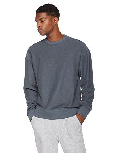 Rebel Canyon Young Men's Reverse French Terry Oversize Fit Pullover Sweatshirt Medium After Wash - Shop Oversize