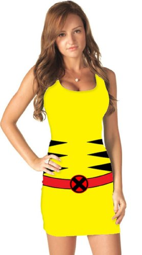 [Marvel Comic Tank Dress Costume - Large - Dress Size] (Yellow Tank Dress Costumes)
