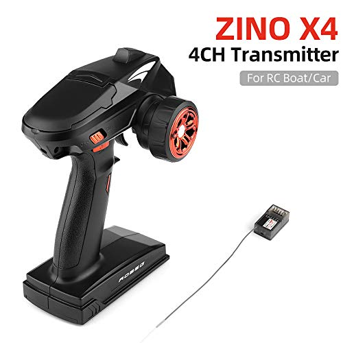 Leslaur Zino X4 2.4G 4CH Remote Control Transmitter with Receiver for RC Car Boat Tank