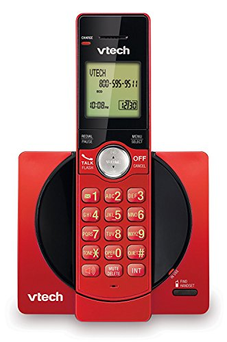 VTech CS6919-16 DECT 6.0 Cordless Phone with Caller ID - Red (Certified Refurbished)