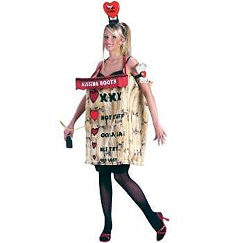 Halloween Kissing Booth Costume (Kissing Booth Humorous Adult Costume)