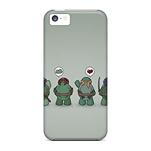 MansourMurray Iphone 5c Shock Absorption Cell-phone Hard Cover Unique Design Colorful Funny Tmnt Teenage Mutant Ninja Turtles Image [Yqs13370MpQj]