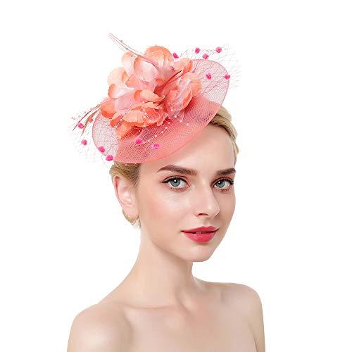 SMSW Fascinator Top Hats Flower Cocktail Hair Clip
