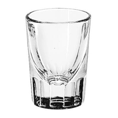 Libbey Fluted Whiskey Glass - LIB5127 - Libbey Whiskey Service Drinking Glasses, Fluted Lined Shot Glass, 1-1/2 Oz, 2-7/8amp;quot;h