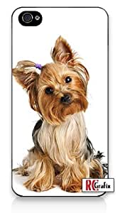 Cute Adorable Yorkshire Terrier Yorkie Dog Apple Iphone 4 Quality TPU Soft Rubber Case for Iphone 4/4s - AT&T Sprint Verizon - White Case by icecream design
