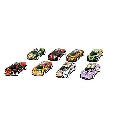 TangTanger 8 Pcs Mini Car Toy Miniature Figurine Toys, Cake Toppers, Cake Decoration: Toys & Games