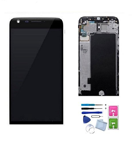 XR LCD Display Touch Screen Digitizer Assembly Replacement Part + Frame for LG G5 H840 H850 H820 H831 VS987 LS992 US992 RS988 with Tools (Black)