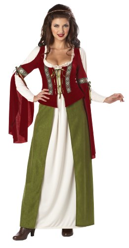 California Costumes Maid Marian Dress, Red/Olive, X-Large -
