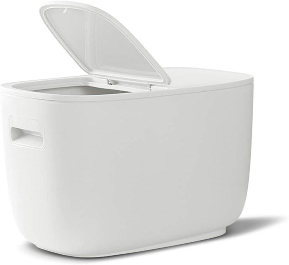 krueis Storage Container Sealed Moisture-Proof Grain Storage Bucket Pet Food Storage Box (White)