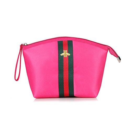 Women Waterproof Bag Handbags Top Bag Satchel Hand Tote Nylon Purse Magenta up Handle Luckywe Shoulder Make dwTvqd