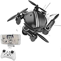 Howley Mini RC Quadcopter 2.4GHz 4CH 6-Axis Gyro 3D UFO Drone FPV WIFI Nano Camera Helicopter (Black)