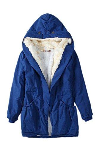 Blue À Anorak Épais Les Parkas Vêtements Manteaux Suvotimo D'hiver Occasionnels qvU4zWPw