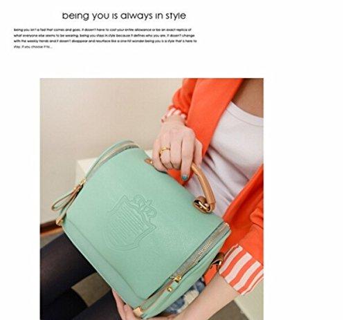 JOVANAS FASHION Women Ladys European Vintage Shoulder Bags Leather Handbag (Green)