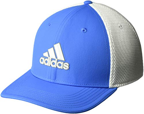 (adidas Golf Men's A-Stretch Tour Hat, True Blue/White, Small/Medium)