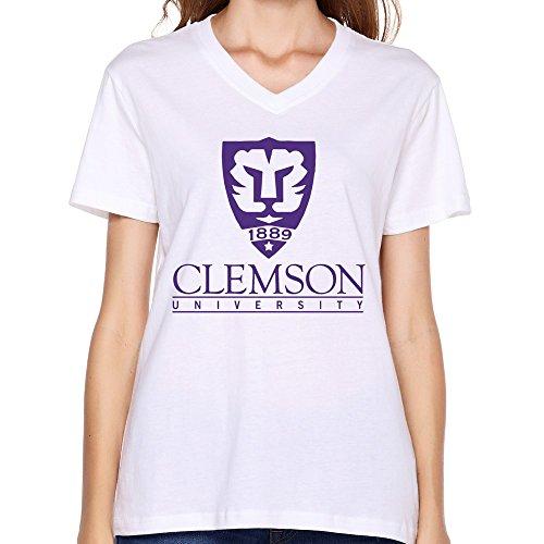Pnhk pnhk women 39 s clemson university v neck t shirt xx for Clemson university t shirts