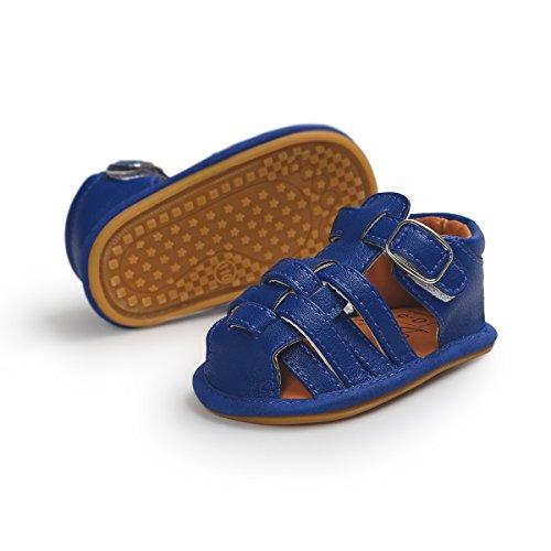 Chaussures Bébé, Chaussures En Cuir Synthétique, Semelle Souple, Antidérapante, Couleur Bleue, Taille 12-18 Mois