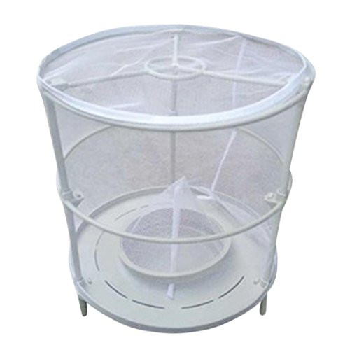 Fiaya Non-Toxic Detachable Folding Reusable Drosophila Fly Trap Device Top Catcher Fly Wasp Insect Trap Net Flycatchers Cage