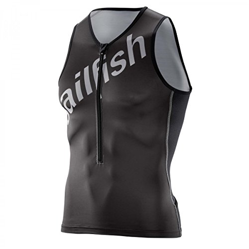 Sailfish Mens Tritop Team – Camiseta de triatlón para hombre negro