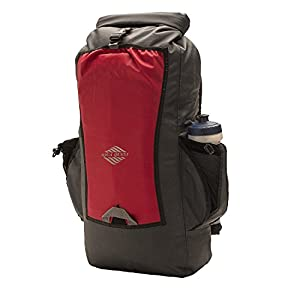 Aqua Quest SPORT 25 Gray and Red 25L Day Pack Waterproof with Roll Top for Men, Women, Students