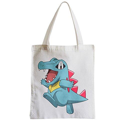 Fabulous Grand Sac Shopping Plage Etudiant pokemon totodile crocodile