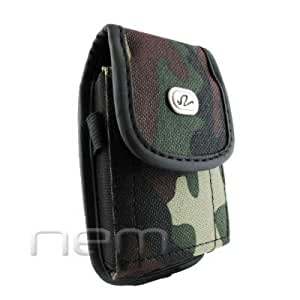 Camouflage Design Vertical Heavy Duty Rugged Cover Belt Clip Side Case For LG Xpression C395