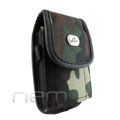 Camouflage Design Vertical Heavy Duty Rugged Cover Belt Clip Side Case For BlackBerry Curve 9380 Touch 9380 Orlando (Bb8300 Curve)
