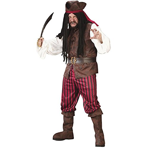 Adult Men's Plus Size High Seas Pirate Costume XXL