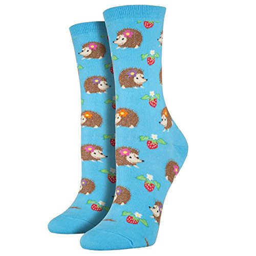 Socksmith Hedgehogs Socks (Bright Blue), One Size -