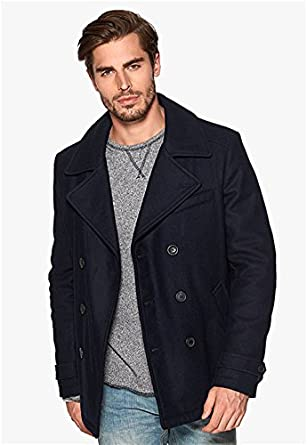 Amazon.com: Fidelity Men's Wool Pea Coat US Made: Clothing