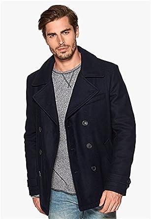 Amazon.com: Fidelity Men's Wool Pea Coat US Made: Clothing