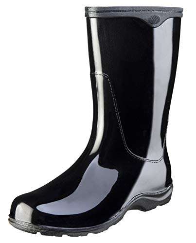 "Sloggers Women's  Rain and Garden Boot with ""All-Day-Comfort"" Insole,  Solid Black  Wo's size 8 Style 5000BK08 5000BK08"