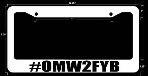 Funny dope JDM License Plate Frame WHT FR BLK Art ()