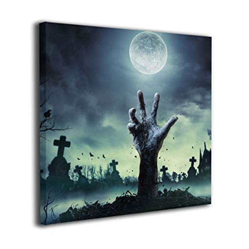 King Duck Wall Art Painting Halloween Zombie Hand Picture Printed On Canvas Artwork Stretched and Framed Decorations for Living Room Bathroom Bedroom Home Decor