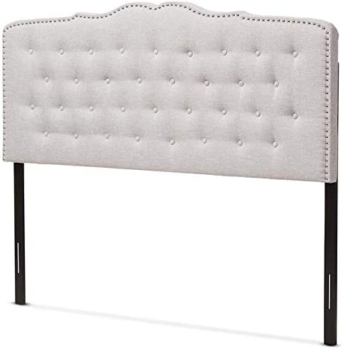 Baxton Studio Lucy Modern and Contemporary Greyish Beige Fabric Queen Size Headboard