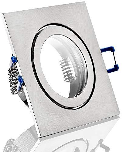 Spot IP44alluminio Faretto da incasso–cromato opaco quadrato–con chiusura a scatto e copertura in vetro–per ambienti umidi Bad
