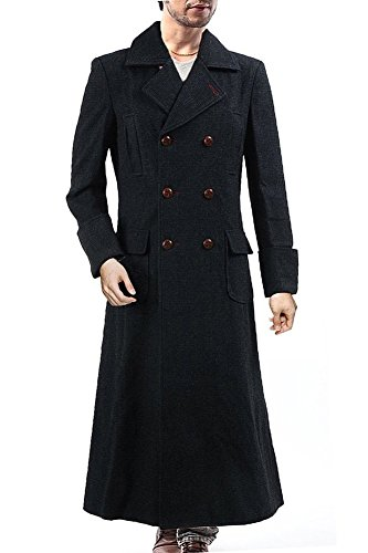 Mens' Halloween Cosplay Costume Long Trench Wool Coat Adult Halloween Costume,Medium by Joyshop