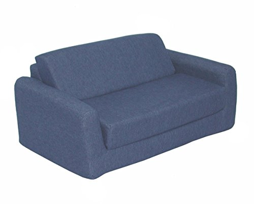 Children's Studio Chair Sleeper  Twin 38'', Indigo Denim by American Furniture Alliance