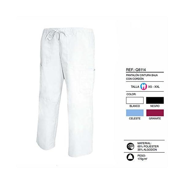 MISEMIYA Pantalón Cintura Baja con Cordón Uniforme Laboral Clinica Hospital Limpieza Veterinaria Sanidad Hostelería utilidades de Trabajo Unisex Adulto 3