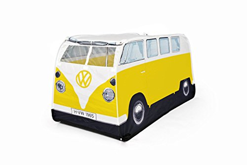 VW Volkswagen T1 Camper Van Kids Pop-Up Play Tent - Yellow - Multiple Color Options Available