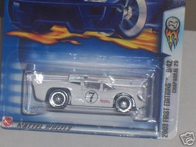 Mattel Hot Wheels 2003 First Editions 1:64 Scale White Chaparral 2D Die Cast Car #021 ()