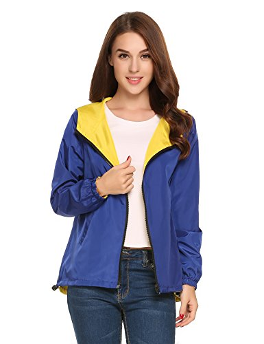 Giacca Giacca reale Blu impermeabile Tomasa Donna 1fx80cPw